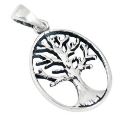 925 silver indonesian bali style solid tree of life pendant jewelry c21830