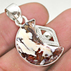 925 silver 10.58cts moon natural wild horse magnesite fancy pendant t46516