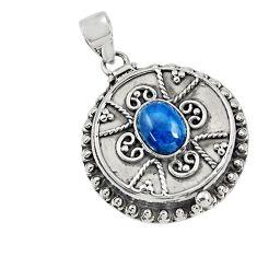 925 silver 4.04cts natural blue apatite (madagascar) poison box pendant r30648