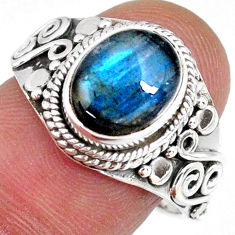 925 silver 4.21cts natural blue labradorite solitaire pendant jewelry r58140