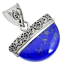 925 silver 15.36cts natural blue lapis lazuli fancy handmade pendant r85064