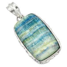 925 silver 21.48cts natural blue scheelite (lapis lace onyx) pendant r32124