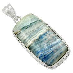 925 silver 26.14cts natural blue scheelite (lapis lace onyx) pendant r41672