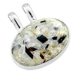 925 silver 11.26cts natural bronze astrophyllite (star leaf) oval pendant t22729