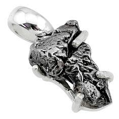 925 silver 8.95cts natural campo del cielo (meteorite) fancy pendant t10773