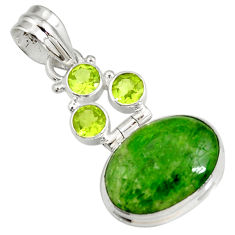 cts natural green chrome diopside oval peridot pendant d42579