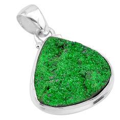 925 silver 14.12cts natural green uvarovite garnet heart pendant t1940
