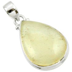 925 silver 15.08cts natural libyan desert glass (gold tektite) pendant r37800