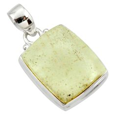 925 silver 15.65cts natural libyan desert glass (gold tektite) pendant r37805