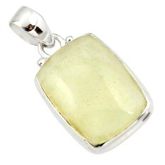 925 silver 15.08cts natural libyan desert glass (gold tektite) pendant r37808