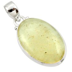 925 silver 14.72cts natural libyan desert glass (gold tektite) pendant r37813