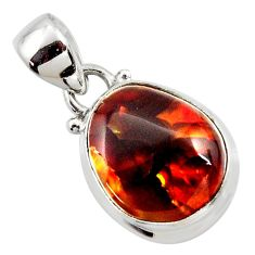 925 silver 10.67cts natural mexican fire agate fancy pendant r50052
