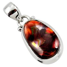 925 silver 9.80cts natural mexican fire agate pendant r50060
