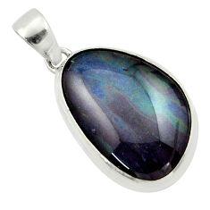925 silver 15.55cts natural multi color australian opal triplet pendant r40169