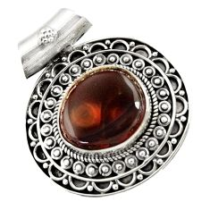 Clearance Sale- 925 silver 8.07cts natural multi color mexican fire agate fancy pendant d43464