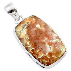 925 silver 17.55cts natural multi color mexican laguna lace agate pendant t45468