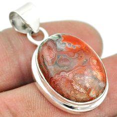 925 silver 14.70cts natural multi color mexican laguna lace agate pendant t53443