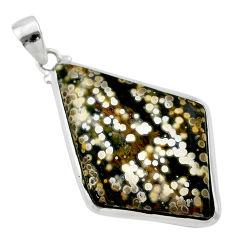 925 silver 23.11cts natural ocean sea jasper (madagascar) fancy pendant t22459