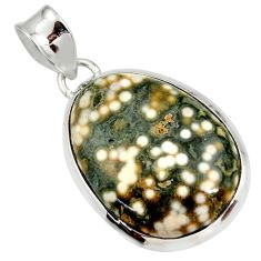 925 silver 19.72cts natural ocean sea jasper (madagascar) pendant jewelry d41351