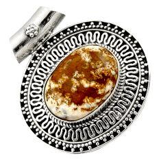 925 silver 13.90cts natural ocean sea jasper (madagascar) pendant jewelry d45051