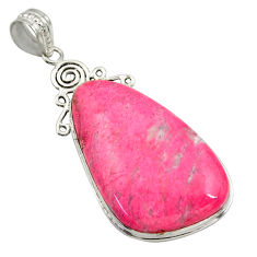925 silver 32.48cts natural pink thulite (unionite, pink zoisite) pendant r30495