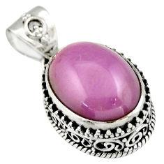 925 silver 9.72cts natural purple phosphosiderite (hope stone) pendant r19044
