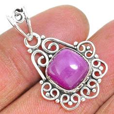 925 silver 5.22cts natural purple phosphosiderite (hope stone) pendant r93914