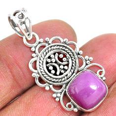 925 silver 4.95cts natural purple phosphosiderite (hope stone) pendant r93919