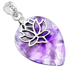 925 silver 28.68cts natural purple star amethyst pear pendant jewelry r91369