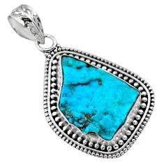 925 silver 10.79cts natural raw sleeping beauty turquoise pendant r66653