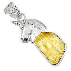 925 silver 9.72cts natural scapolite fancy horse charm pendant jewelry r56763