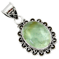 925 sterling silver 10.28cts aquatine lemurian calcite pendant jewelry r40207