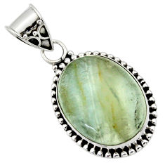925 sterling silver 15.08cts aquatine lemurian calcite pendant jewelry r40216