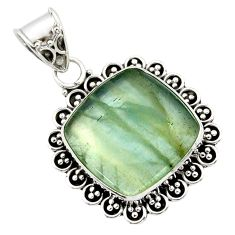 925 sterling silver 14.95cts aquatine lemurian calcite pendant jewelry r40220