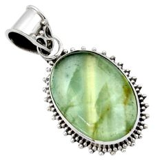 925 sterling silver 13.99cts aquatine lemurian calcite pendant jewelry r40228