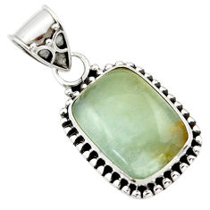 925 sterling silver 10.65cts aquatine lemurian calcite pendant jewelry r40237