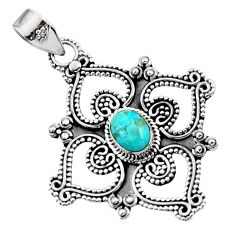 925 sterling silver 2.36cts blue arizona mohave turquoise pendant jewelry d44995