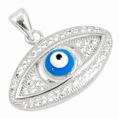 925 sterling silver 3.29cts blue evil eye talismans topaz pendant jewelry c21121
