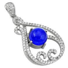 925 sterling silver blue sapphire quartz topaz pendant jewelry c22141