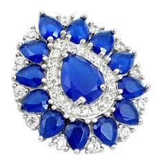 925 sterling silver blue sapphire quartz white topaz pendant jewelry c19059