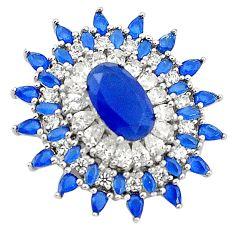 925 sterling silver blue sapphire quartz white topaz pendant jewelry c19127