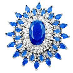 925 sterling silver blue sapphire quartz white topaz pendant jewelry c19129