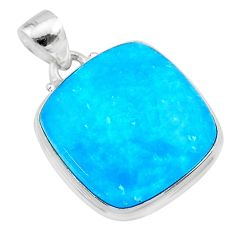 925 sterling silver 19.60cts blue smithsonite pendant jewelry t22784