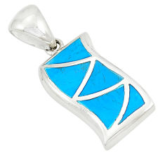 925 sterling silver fine blue turquoise pendant jewelry a77589 c14422