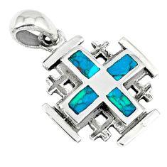 925 sterling silver fine green turquoise enamel pendant jewelry c10994