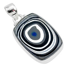 925 sterling silver 13.15cts fordite detroit agate octagan pendant r92670
