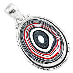 925 sterling silver 10.65cts fordite detroit agate oval handmade pendant r92714