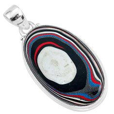925 sterling silver 13.15cts fordite detroit agate handmade pendant r92636