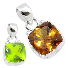 925 sterling silver 5.06cts green alexandrite (lab) pendant jewelry t57130