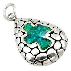 925 sterling silver green australian opal (lab) fancy pendant jewelry c24303